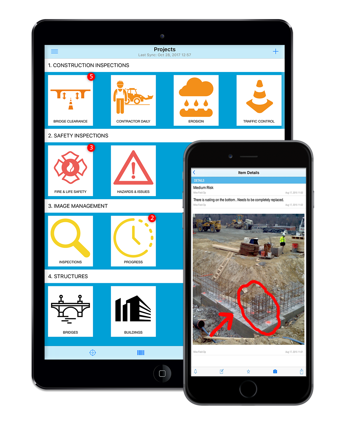Construction field management app