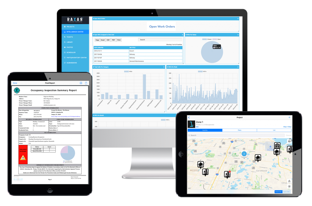 Fire department fire and life safety management software